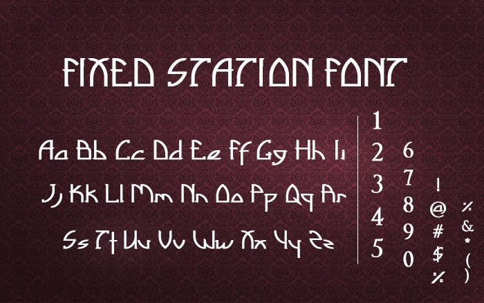 Fixed Station Font