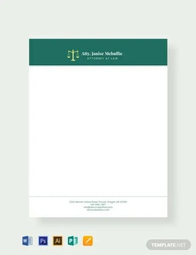 free advocate letterhead template