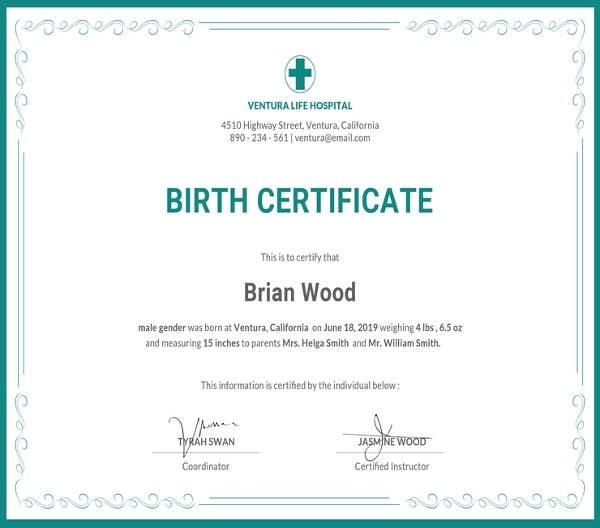 free-birth-certificate-template