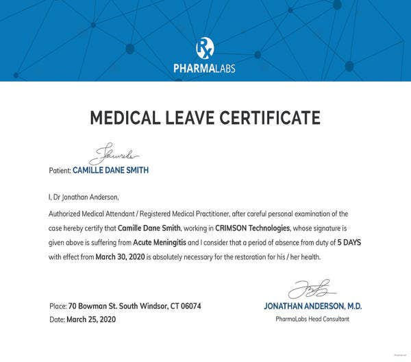 free-medical-certificate-for-casual-leave-template