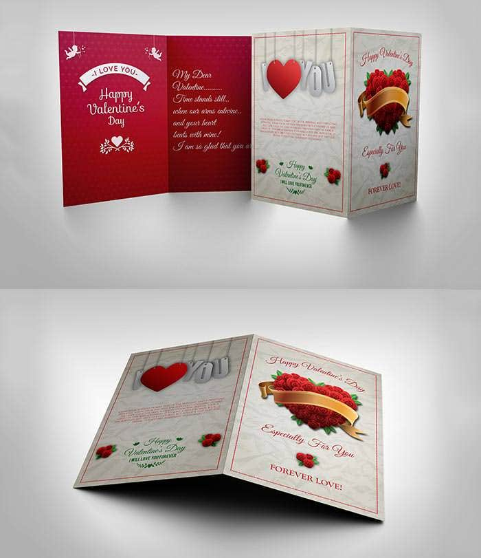 free valentine day greeting card template