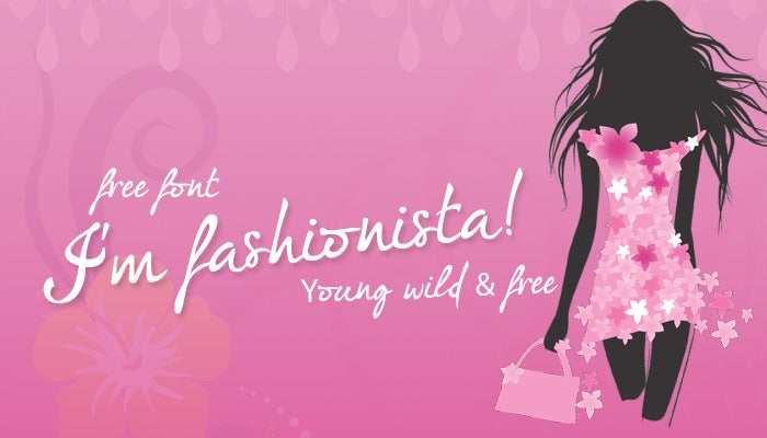 im fashionista Free calligraphy fonts