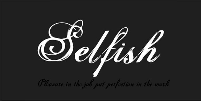 selfish font Free calligraphy fonts