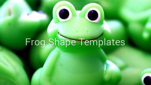 frog shape templates