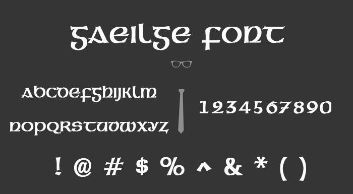 Gaeilge Normal True Type Font