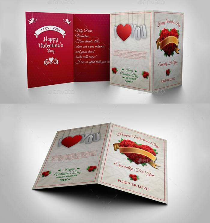 greeting card valentine day template