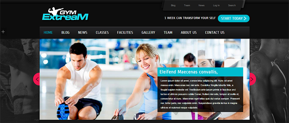 Gym Extream - Gym and Fitness WordPress Theme