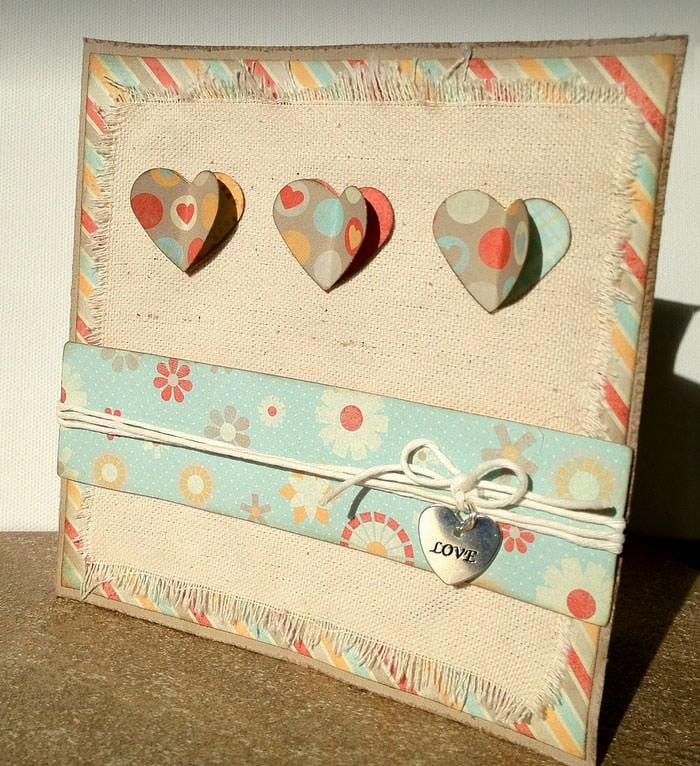 hand made valentine greeting card sample