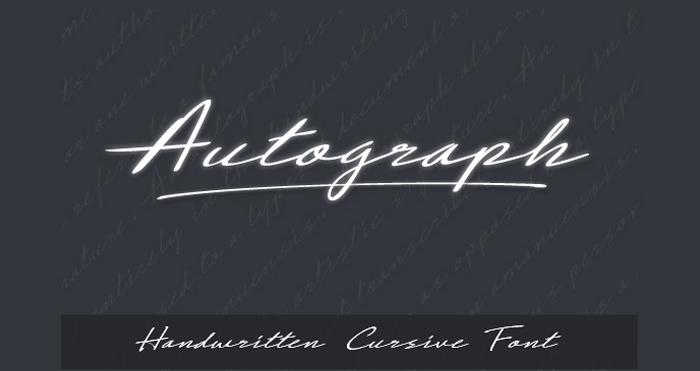 Handwritten Cursive Script Font