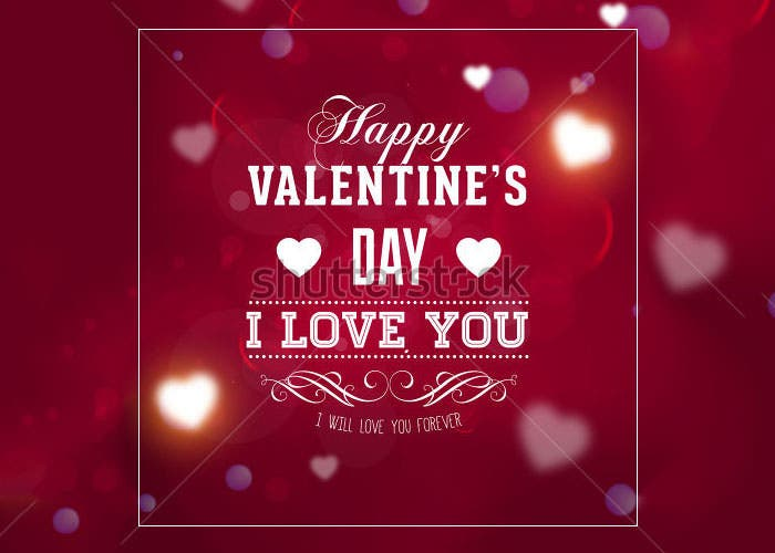 happy valentines day card design 2015