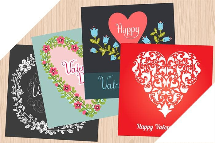 happy valentines day cards bundle