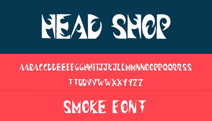 headshop font
