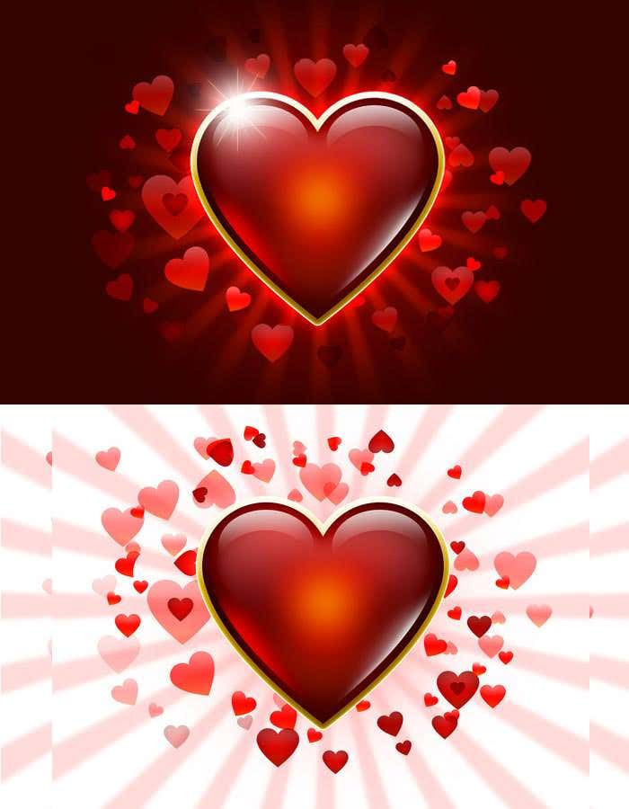 heart icon isoloted on valentine background
