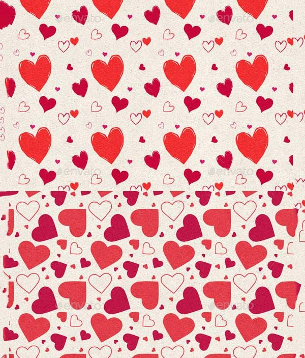 heart photoshop patterns