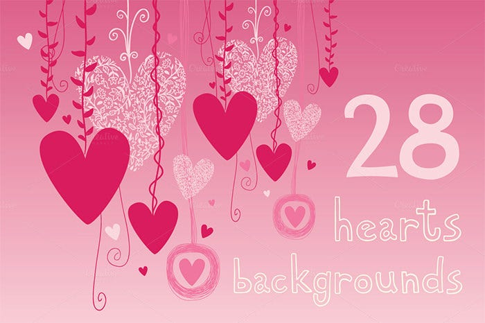 hearts backgrounds for valentine day 2015