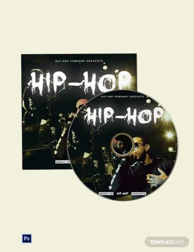 hip hop cd cover template