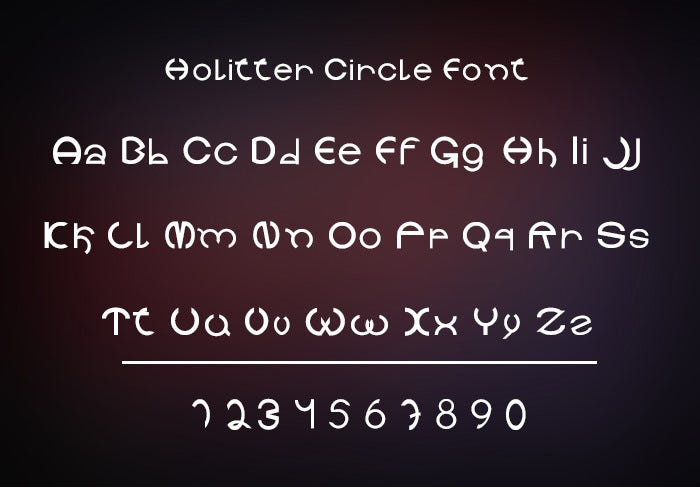 Holitter Circle Font Free Download