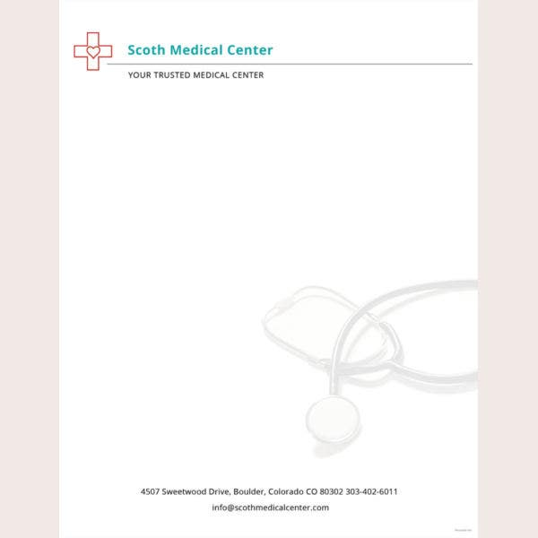 32 professional letterhead templates free sample example format hospital letterhead template altavistaventures Gallery