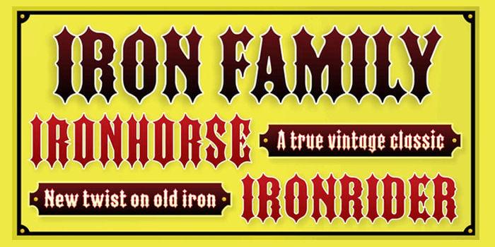 iron family font