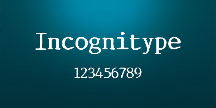 incognitype font