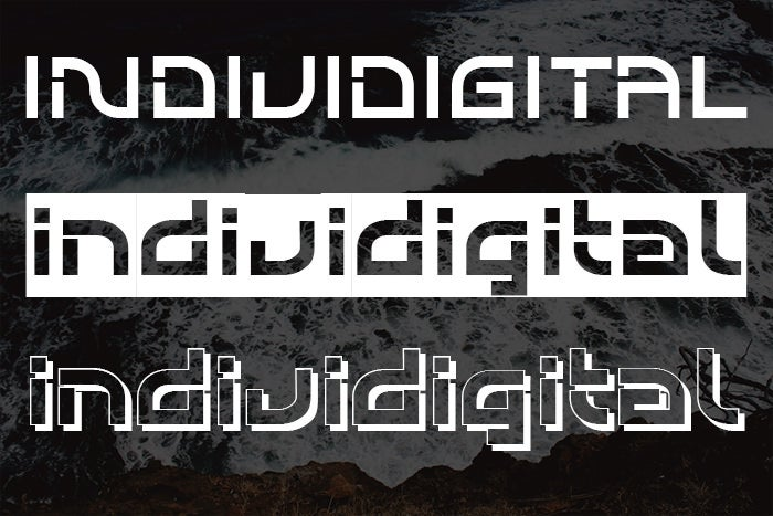 individigital abstract font