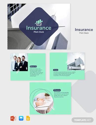 insurance pitch deck template