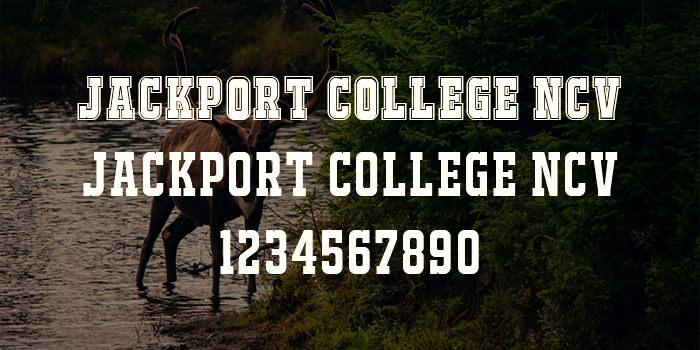jackport college ncv font 2
