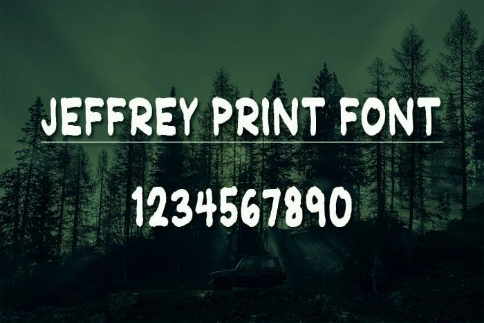 jeffrey print font