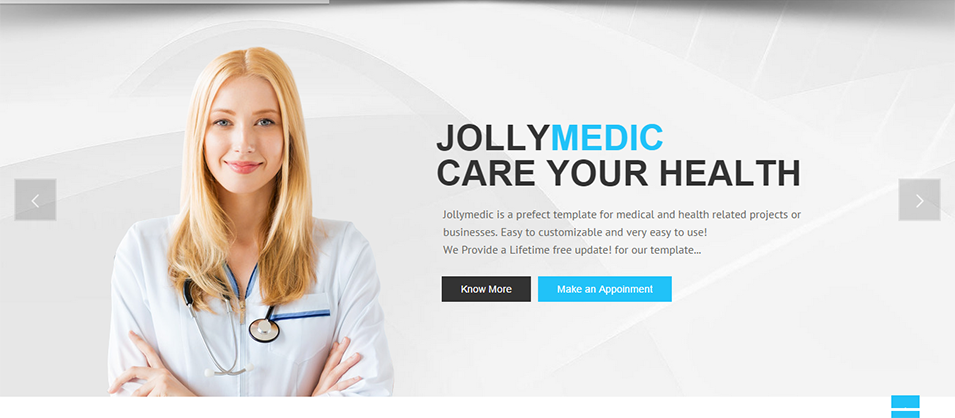 jollymedic medical hospital html5 website template