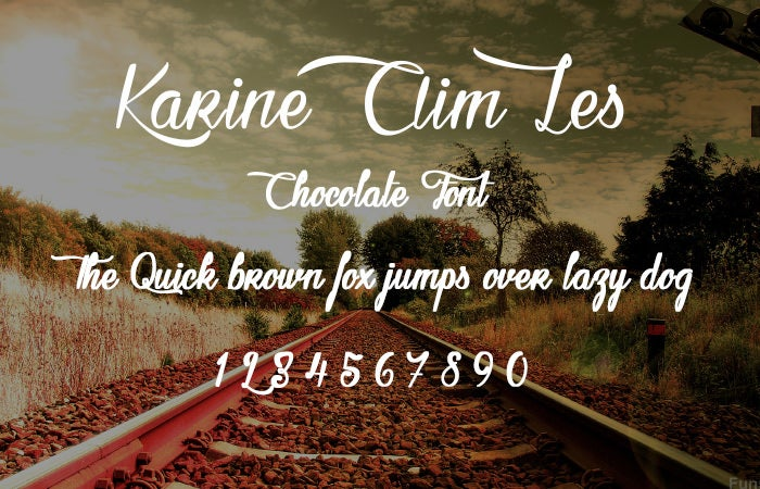 Karine Aim Les Chocolate Font