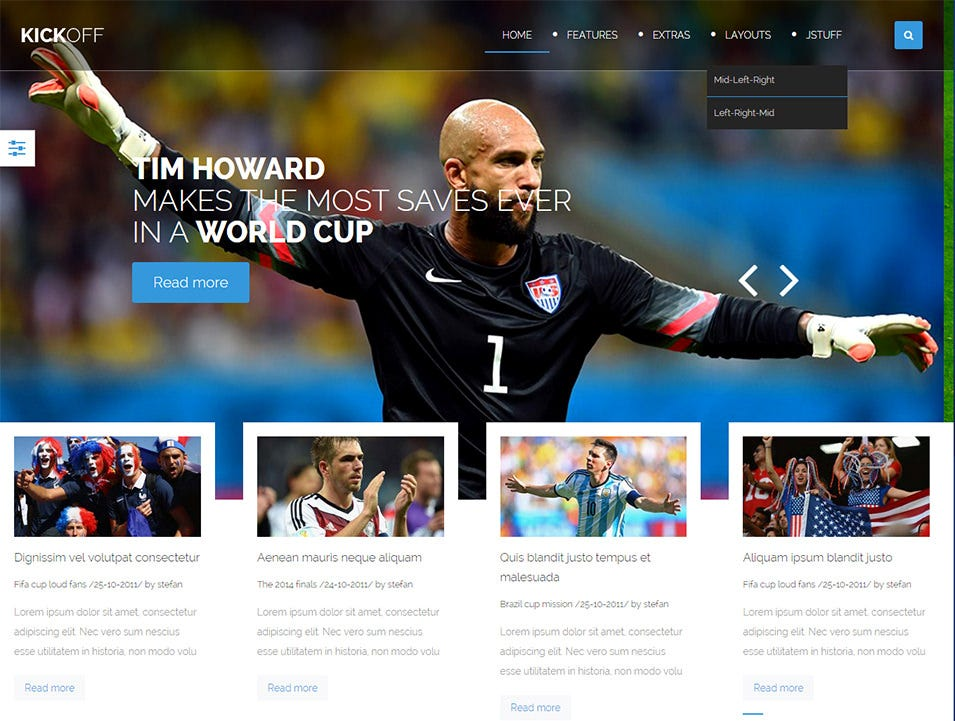 Sports Magzine Joomla Templates