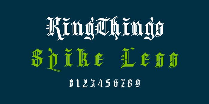 kingthings spikeless font