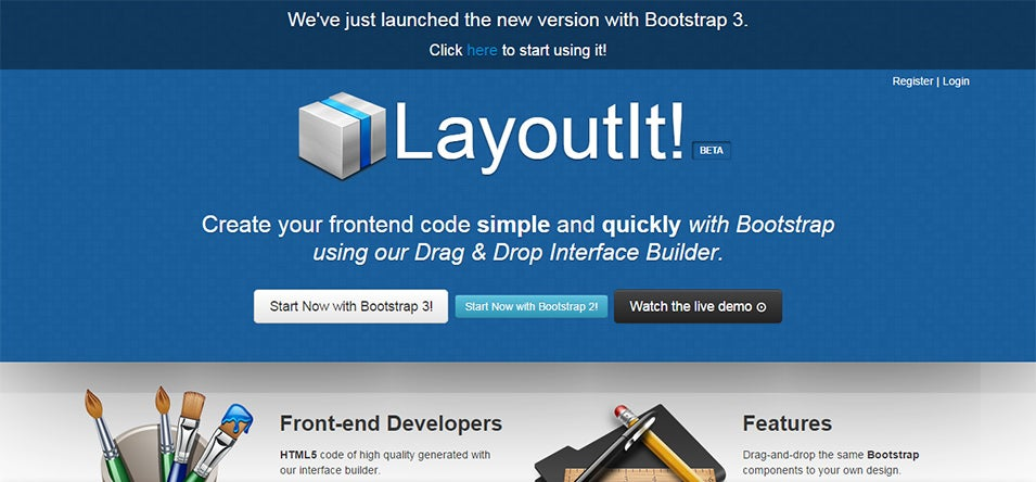 layoutit interface builder for bootstrap