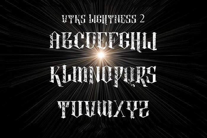 lightness 4 fonts by vtks