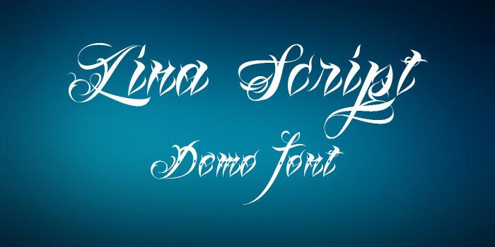 lina script demo font