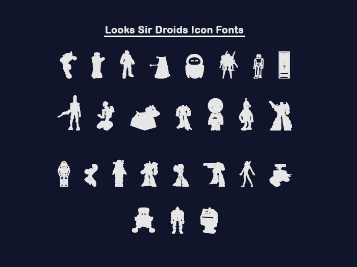Looks Sir Droid Icon Font