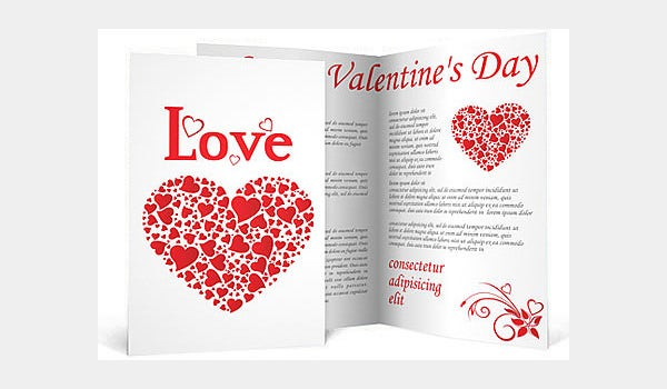 love hearts brochure template