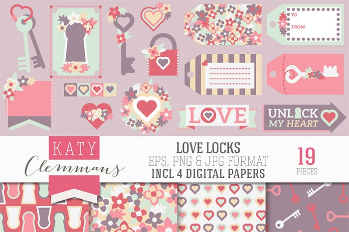 love locks clip art backgrounds banners