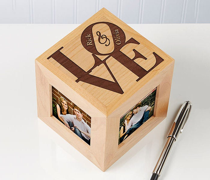 love personalized photo cube