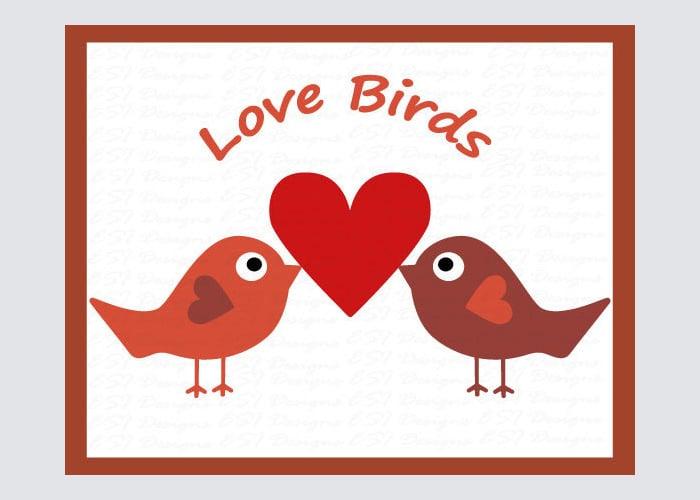 love birds valentines crafts