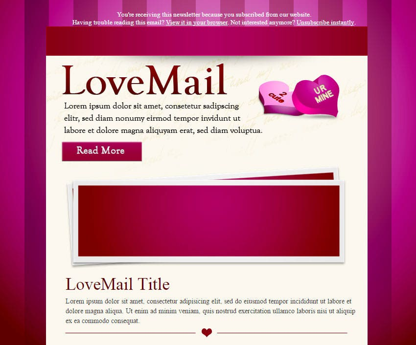 lovemail valentines day email templates