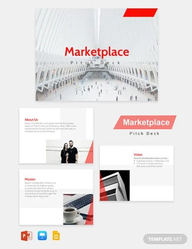 marketplace pitch deck template