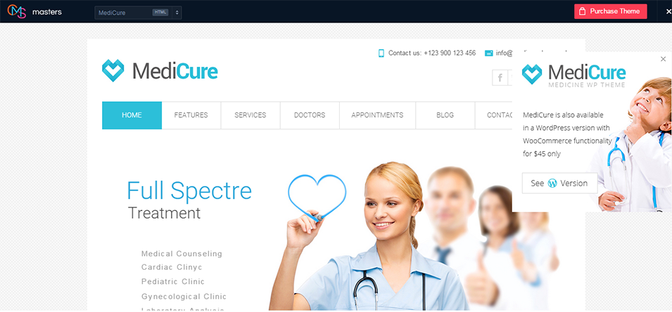 medicure html template by cmsmasters