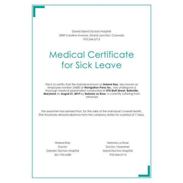 medical certificate for sick leave template2