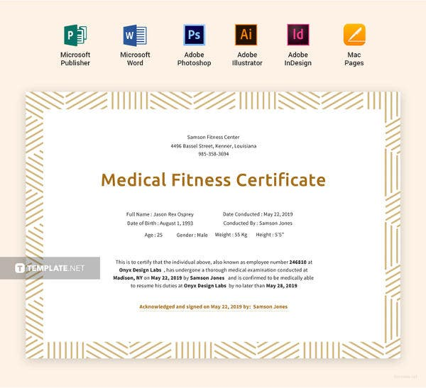 medical fitness certificate template2