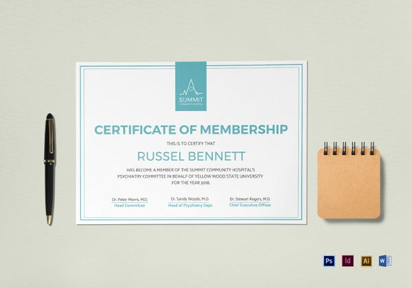 medical-membership-certificate-template