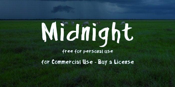 midnight font 2