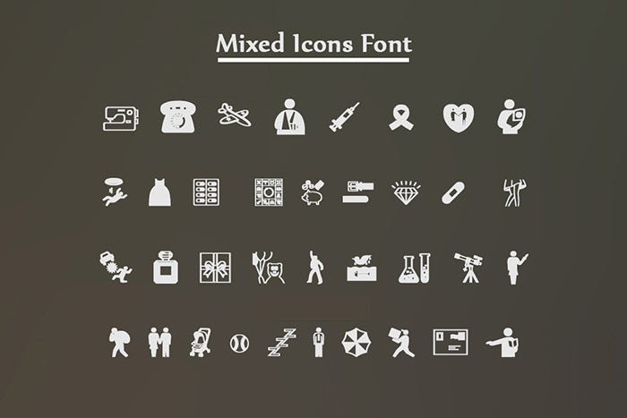 Mixed Icon Fonts_set