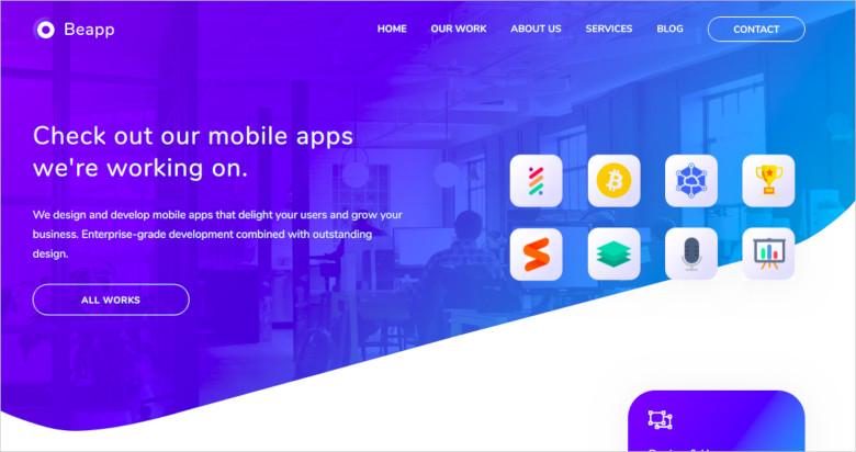mobile app development agency html5 template