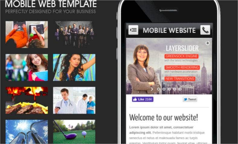 mobile tablet web template html5 css3 788x479